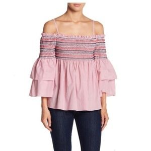 Endless Rose smocked off the shoulder top